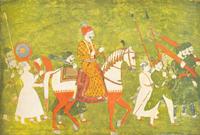 Кортеж раджпутского раджи (раджастанская школа около 1760 г.)