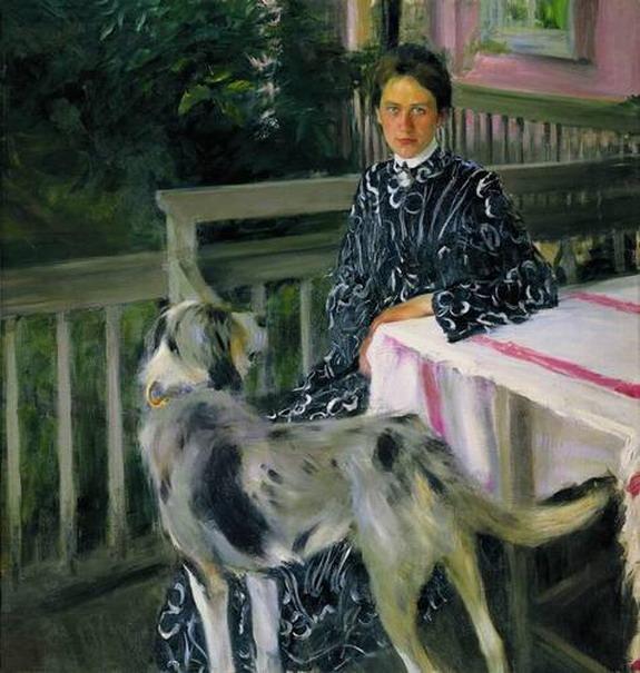 Портрет Ю.Е.Кустодиевой.