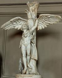 Леохар. Ганимед, похищаемый орлом (Римская копия с греческого бронзового оригинала. IV в. до н.э. Ватикан)