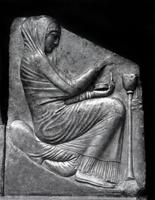 Трон Людовизи. Женщина, приносящая жертву. Мрамор. Около 470 г. до н.э. Рим. Музей Терм