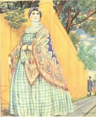 Купчиха (из серии Русские типы, 1920 г.)
