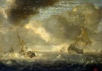 Море с кораблями в ненастный день(Ян Порселлис)