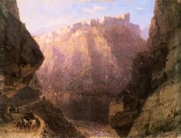 Дарьяльское ущелье. (И.К. Айвазовский. 1868)