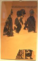 Фрагмент чернофигурной погребальной пинаки работы Эксекия. Античное собрание. Берлин