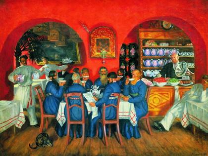 Московский трактир (Б. Кустодиев, 1916 г.)