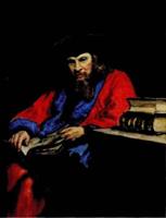 Портрет Д.И. Менделеева (И.Е. Репин, акварель, лессировка)