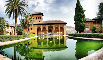 Мавританский сад (замок Альгамбра, Испания)