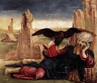 Святой Иоанн на Патмосе (Козимо Тура. 1470 г.)