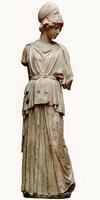 Мирон. Афина. Римская копия. Мрамор. Франкфурт-на-Майне, Фридрих Хевикер музей. II четверть V в. до н.э.