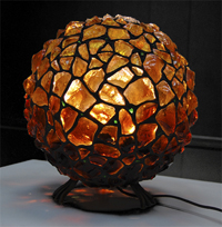 Светильник из художественного стекла