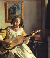 Девушка, играющая на гитаре (Ян Вермеер Делфтский)