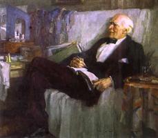 К.С. Станиславский за работой (Н.П. Ульянов. 1947)