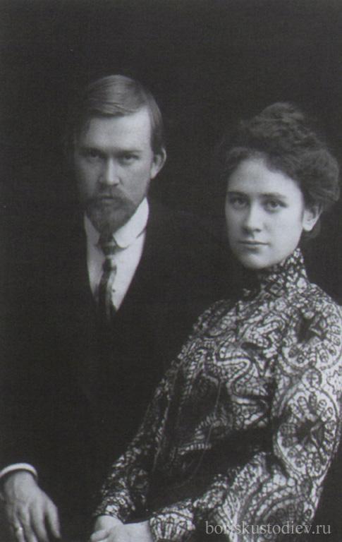Фотография Кустодиев с женой.