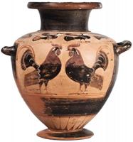 Гидрия чернофигурная с изображением петухов. Клазомены. VI в. до н.э.