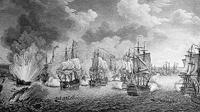 Сражение при Чесме в ночь на 7 июля 1770 г. Гравюра