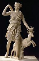Леохар. Диана-охотница. Римская копия. IV в. до н.э. Мрамор. Лувр, Париж