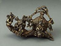 Фигурная фибула (Серебро, чернь. Древняя Русь. 10 в.)