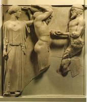 Подвиги Геракла. Метопа храма Зевса. 460-456 гг. до н.э. Мрамор. Олимпия. Музей