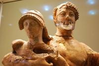 Зевс, похищающий Ганимеда (Фрагмент. Терракота. 470 год до н.э.)