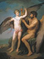 Дедал перевязывает крылья Икару