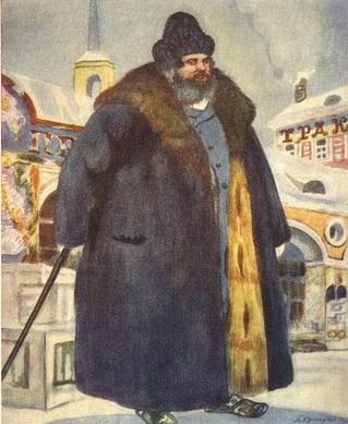 Купец в шубе (из серии Русские типы, 1920 г.)