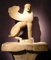 Надгробный сфинкс, 560—550 гг. до н.э., Археологический музей, Афины