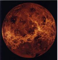 Общий вид поверхности Венеры