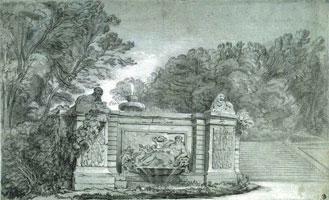 Фонтан в парке (Жан-Батист Удри)
