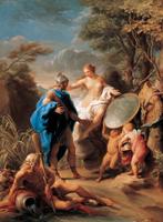 Венера, дарящая Энею доспехи, изготовленные Вулканом (Помпео Батони. 1748 г.)