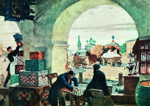 В торговых рядах (1916 г.)