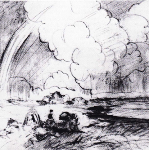 Эскиз к картине Прогулка верхом (1915 г.)