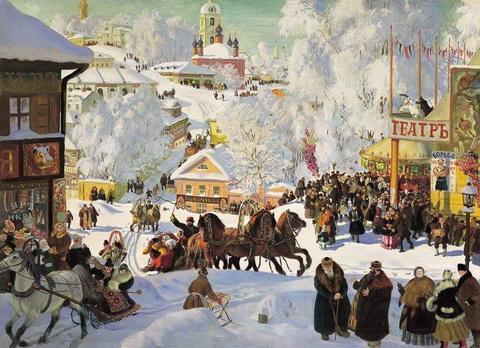 Зима. Масленичное катанье (1919 г.)