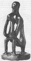 Сидящий (пьющий) мужчина. Бронза. Конец VIII в. Храм Артемиды Орфии. Спарта. Музей