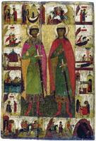 Святые благоверные князья-страстотерпцы Борис и Глеб XIV век.
