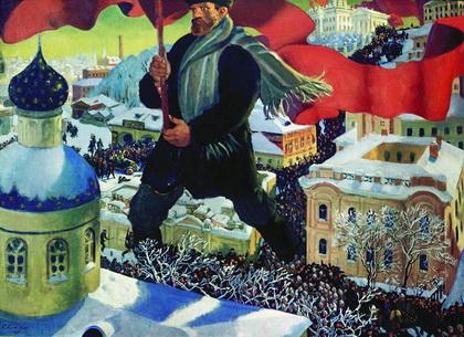 Большевик (Б. Кустодиев, 1920 г.)