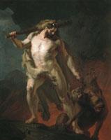 Геркулес выводит Цербера из преисподней