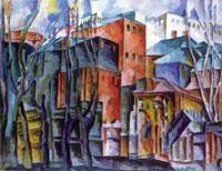 Пейзаж с лаврой (А.В. Лентулов)