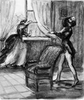 Покинутая женщина (Г.П. Конопацкая. Бумага, тушь, размывка. 1974г.)
