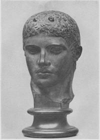 Дискобол (Фрагмент. Мирон. Римская мраморная копия. Около 450 г. Рим. Музей Терм)