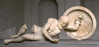 Раненый воин (Скульптура фронтона храма Афины Афайи на острове Эгина)