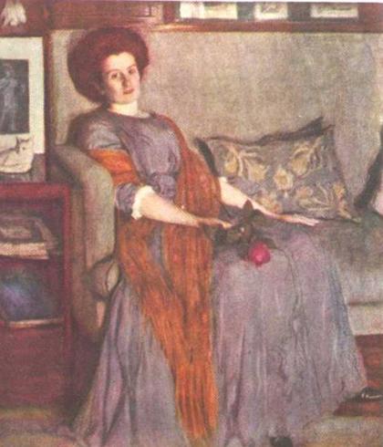 Портрет Р.И. Нотгафт (1909 г.)