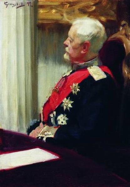 Генерал от инфантерии Христофор Христофорович Рооп. Этюд для картины И. Е. Репина