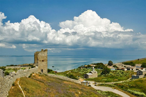 Феодосия. Вид с Генуэзской крепости.