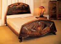 Эмиль Галле, кровать с бабочками, 1904 г.