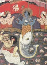 Вишну в образе рыбы