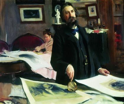Портрет профессора гравирования В.В.Матэ (Б. Кустодиев, 1902 г.)