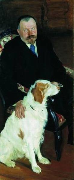Портрет доктора С.Я. Любимова с собакой.