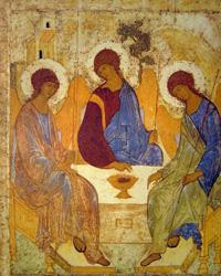 Троица (Андрей Рублёв. 1420-е гг.)