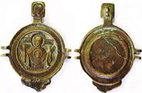 Створка панагии с изображением иконы Божией Матери. XVIII век