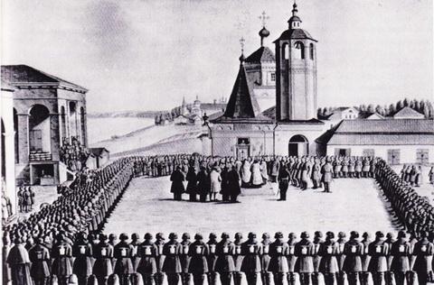 Кинешма. Ополчение против поляков 1609 года (А.И. Трунтаев, 1910-е г.)